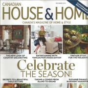 Cover of the December 2013 issue of Canadian House & Home