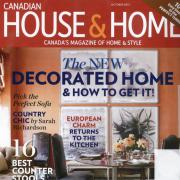October 2013 cover of Canadian House & Home
