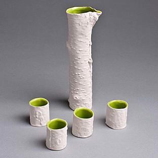 Chari Cohen Birch Sake Set