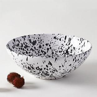 Black and White Splatter Bowl