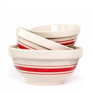 Red & White Bowls