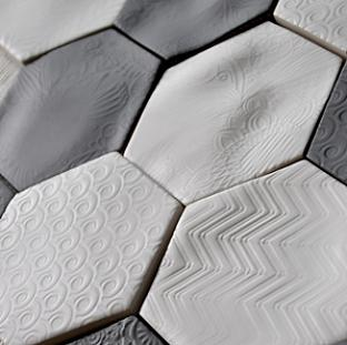 honeycomb shaped tiles
