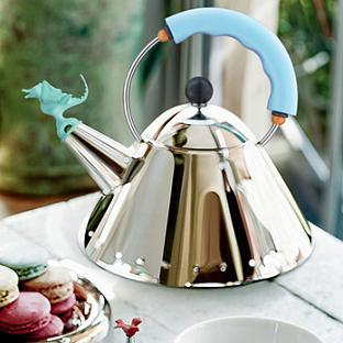 Tea Rex Kettle with Light Blue Handle
