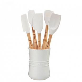 Le Creuset white 6-pc Utensil Tool Set