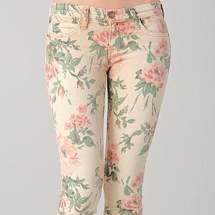current elliott stiletto floral jeans