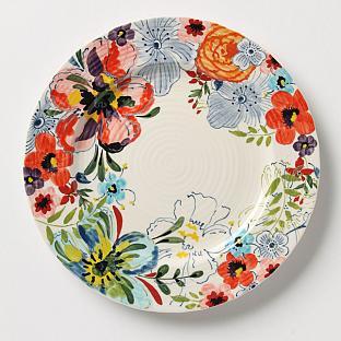 sarah richardson finds floral anthropologie plate