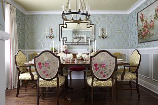 Sarah Richardson Sarah 101 Dining Room Floral Chair Back Geometric