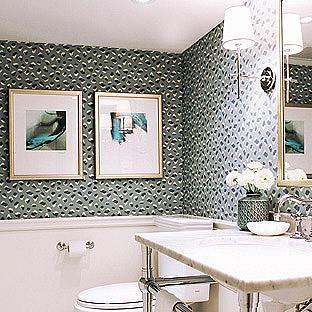 Feline Wallpaper Bathroom