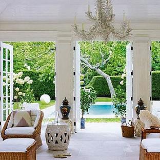 Aerin Lauder's Hamptons Pool House