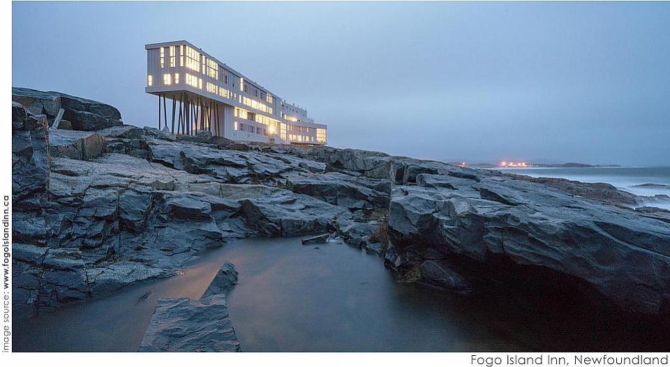 Fogo Island Inn, Newfoundland. Designed by Todd Saunders