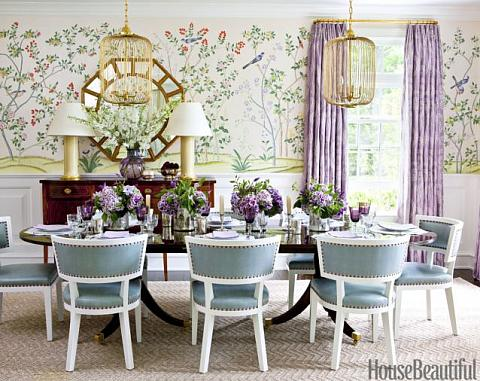 Green Lavender Dining Room
