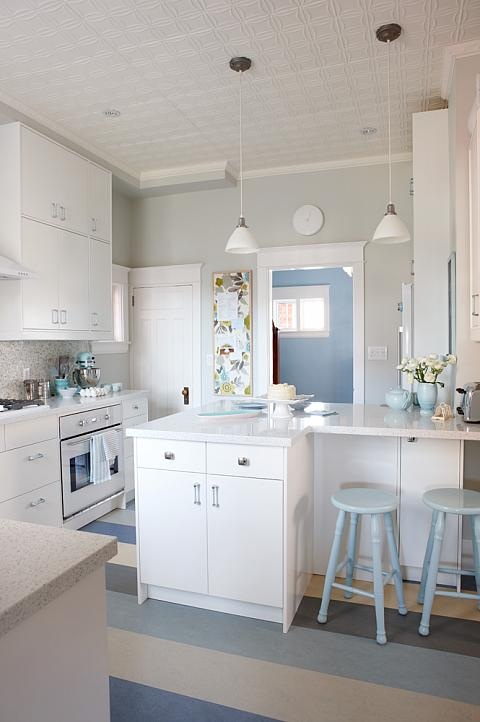 Charmant Sarah Richardson Sarah 101 Kitchen Stripe Floor Blue