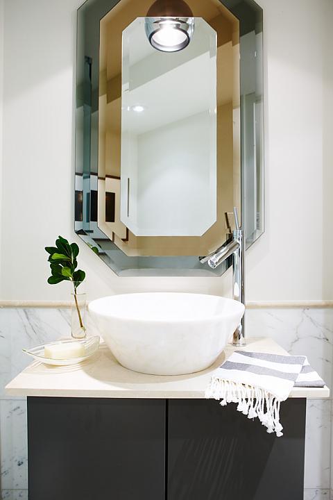 Sarah Richardson Vintage Modern Condo Guest Bathroom