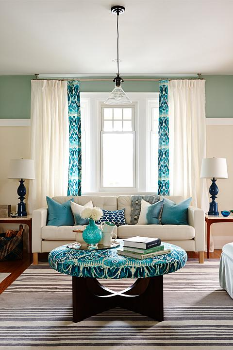 Globe and Mail Real Potential Turquoise Living Room
