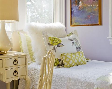 Green Lavender Bedroom