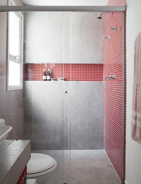 Red Tiled Shower