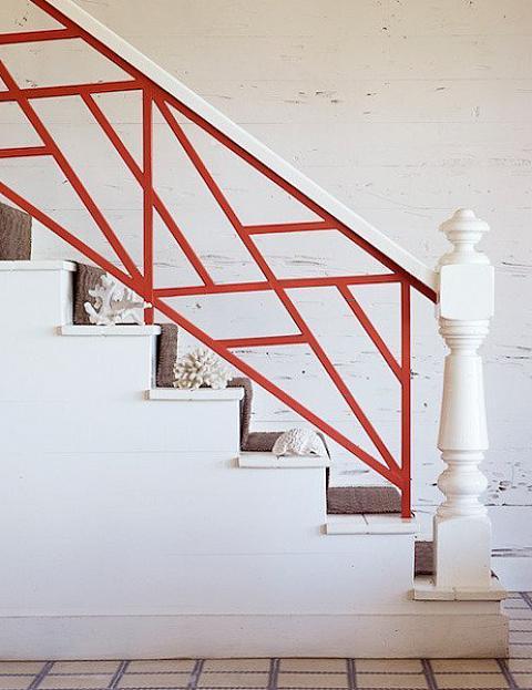 Red Stair Railings