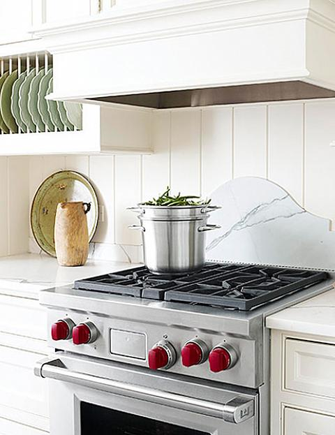 Stove with Red Knobs