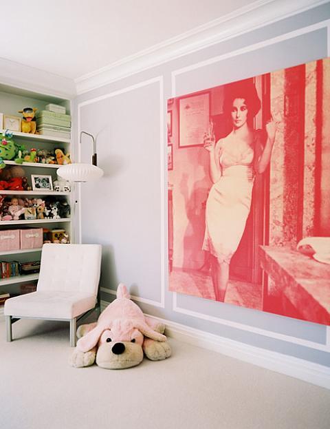 Elizabeth Taylor Pop Art in Child's Room