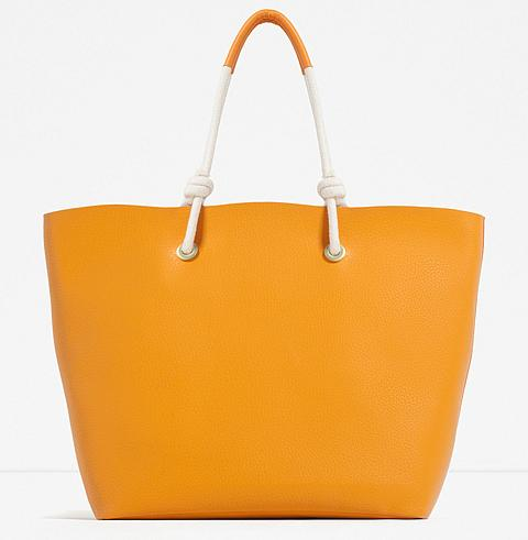 Zara Tote with Cord Detail