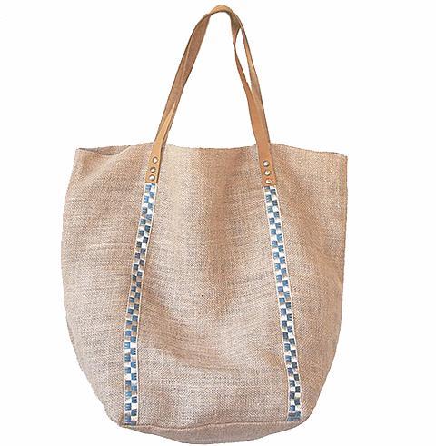 Turkish-T Metallic Jute beach Bag
