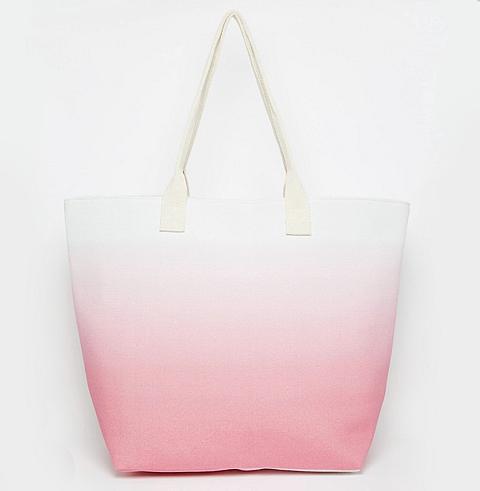 ASOS South Beach Pink Ombre Beach Bag