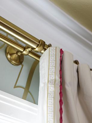 sarah richardson sarah 101 dining room brass drapery hardware trim