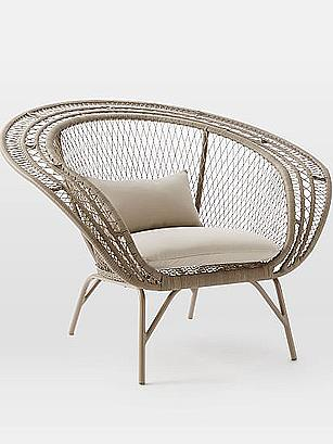 West Elm Modern Peacock Chair
