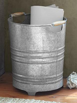 Galvanized Trash Can, Pottery Barn