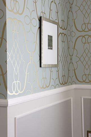 sarah richardson sarah 101 dining room painted panel wallpaper