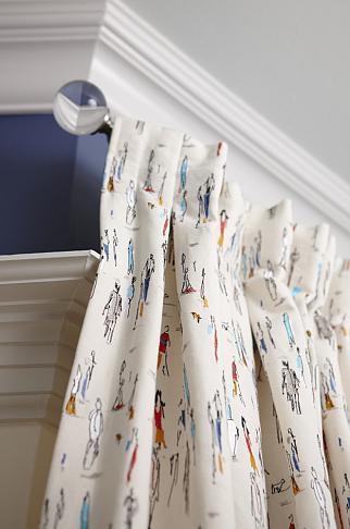 sarah richardson sarah 101 black white illustrated curtain fabric