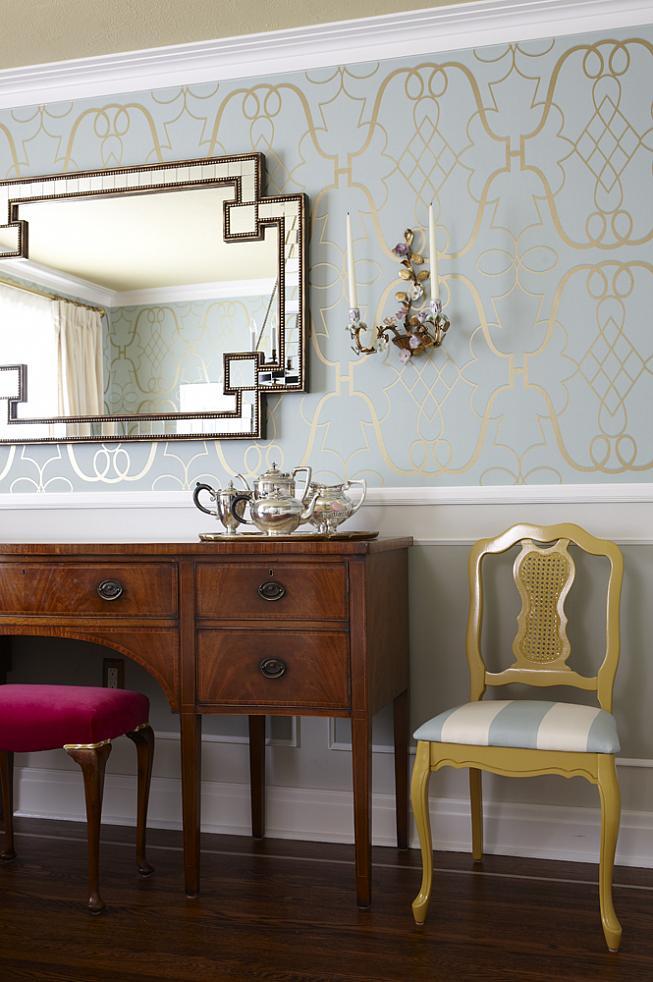 sarah richardson sarah 101 dining room sideboard mirror yellow chair