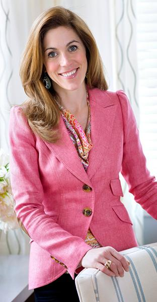 Photo of Sarah Richardson in pink Smythe blazer