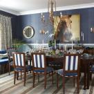 sarah richardson sarah house 4 dining room blue stripe chairs grasscloth