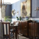 sarah richardson sarah house 4 dining room blue stripe chairs grasscloth