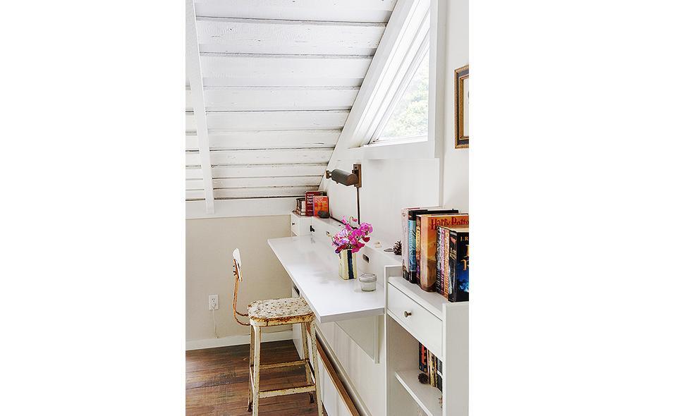 desk in attic