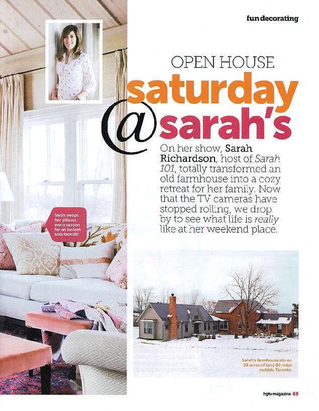 Saturday at Sarah's   Sarah Richardson Design