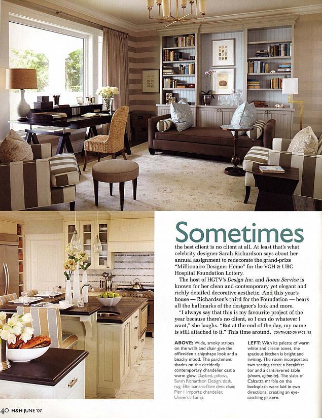 Lottery grand prize designer home sarah richardson design - Millionaire designer home lottery ...