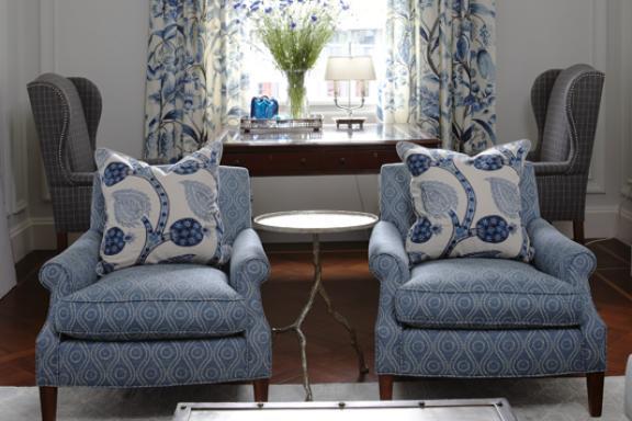 Bon Sarah Richardson Blue Family Room